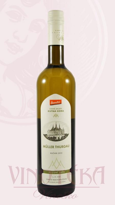Müller Thurgau Vinné sklepy Kutná Hora