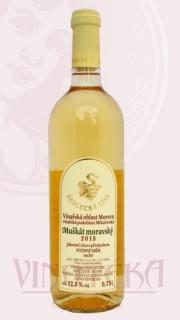 Muškát moravský, pozdní sběr, 2015, Sedlecká vína