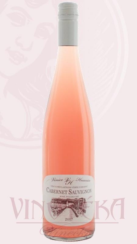 Cabernet sauvignon rosé, výběr z hroznů, Vinice Hnanice