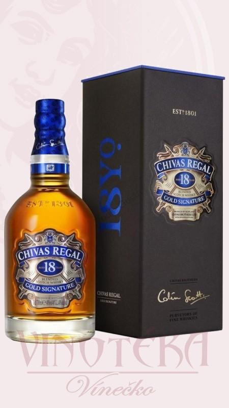 Chivas Regal, 18 years, 0,7l, krabička
