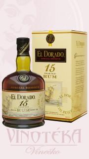 EL Dorado rum, 15 let, 0,7 l