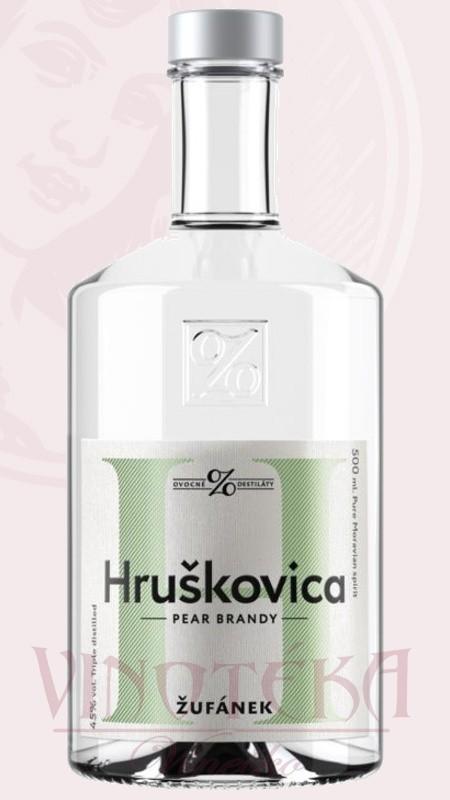Hruškovica Žufánek, 45%, 0,5l, Žufánek