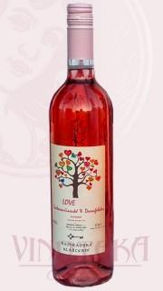 LOVE rosé (SVT+ZW), zemské, 2018, Rajhradské klášterní vinařství