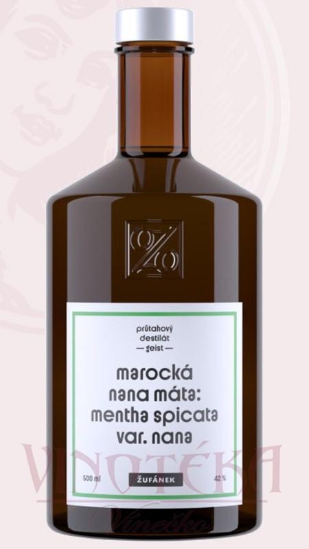 Marocká nana máta, 42%, 0,5l, Žufánek