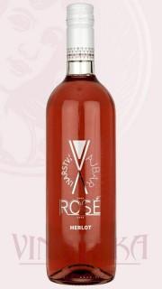 Merlot rosé, pozdní sběr, 2016, Vinařství Vajbar