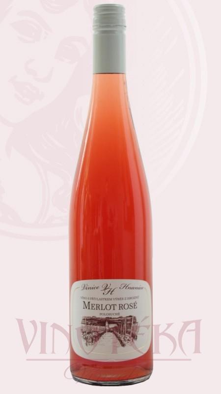 Merlot rosé, výběr z hroznů, Vinice Hnanice