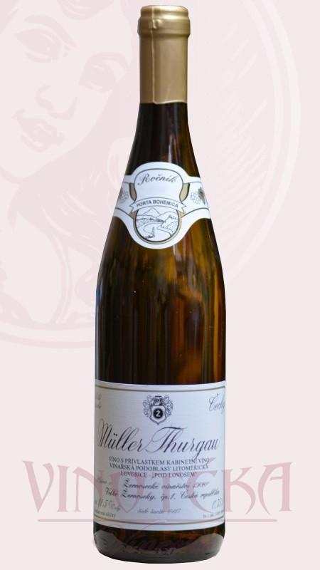 Muller Thurgau, jakostní, Vinařství Velké Žernoseky