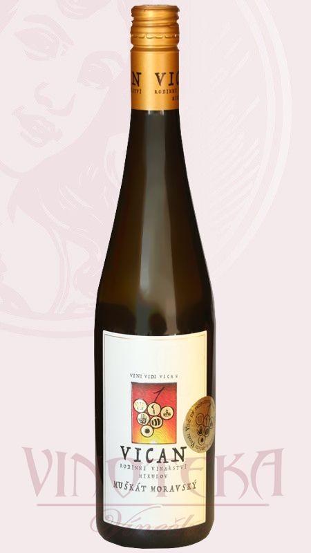 Muškát moravský, Vinařství Vican