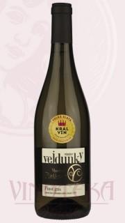 Pinot gris, výběr z hroznů, barrique, 2013, Vinařství Plešingr
