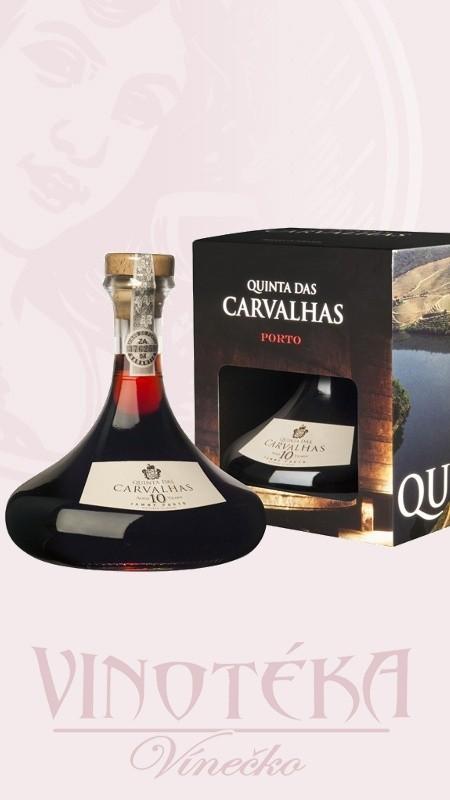 Quinta das Carvalhas 10YO v karafě a dárkové krabičce