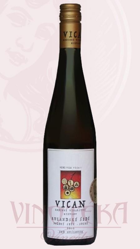 Rulandské šedé, 2017, výběr z hroznů, Vinařství Vican
