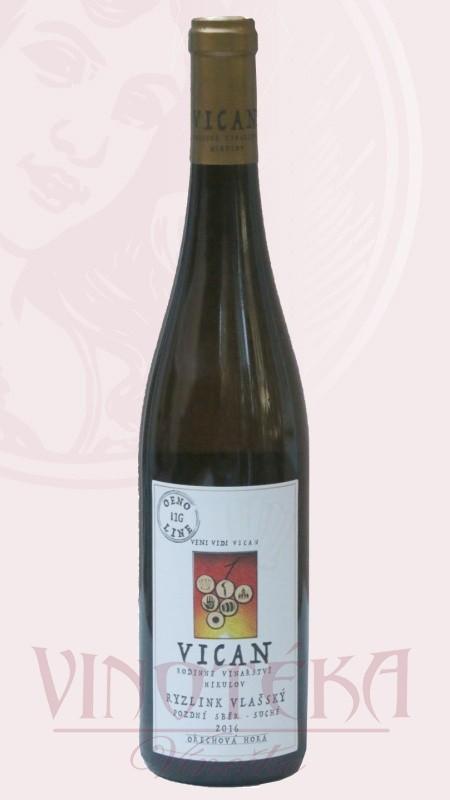 Ryzlink vlašský, OENO, 2016, pozdní sběr, Vinařství Vican