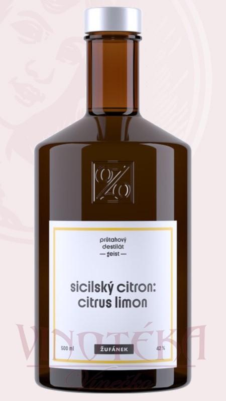Sicilský bio citron, 42%, 0,5l, Žufánek