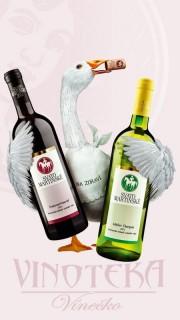 Svatomartinské víno, Muškát Moravský, moravské zemské 2019, Vinařství Vajbar
