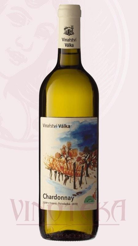 Chardonnay BIO, výběr z hroznů, Vinařství Válka