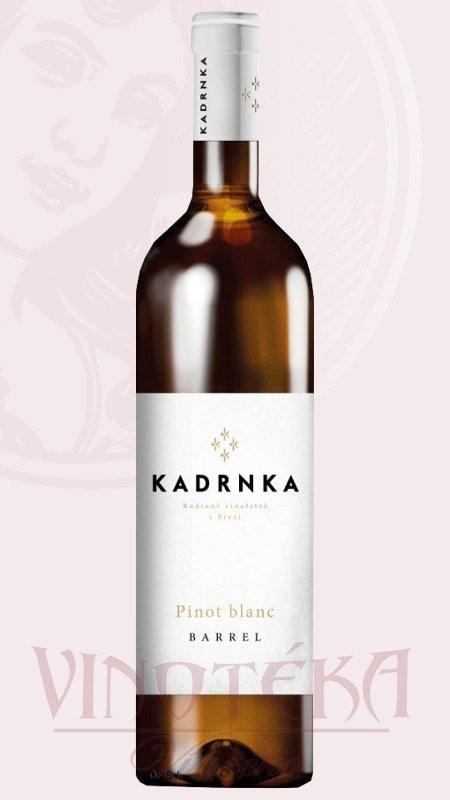 Pinot blanc - Barrel, výběr z hroznů, Vinařství Kadrnka