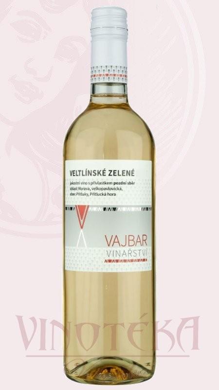 Veltlinské zelené, pozdní sběr, Vinařství Vajbar