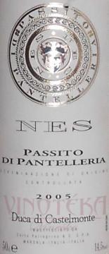 NES Passiot di Pantelleria DOC, 2005, Duca di Castelmonte