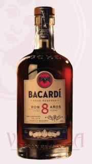 Bacardi 8 YO, Bacardi 0,7 l