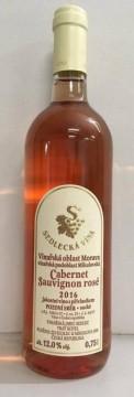 Cabernet Sauvignon rosé, pozdní sběr, 2015, Vinařství Sedlecká vína (VÝPRODEJ)
