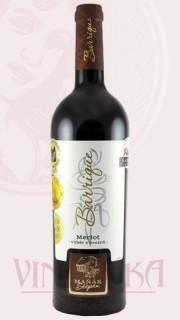 """Merlot """"barrique"""", výběr z hroznů, 2015, Vinařství Štěpán Maňák"""