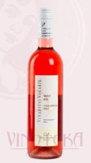 Merlot rosé, výběr z hroznů, 2018, Vinařství Volařík