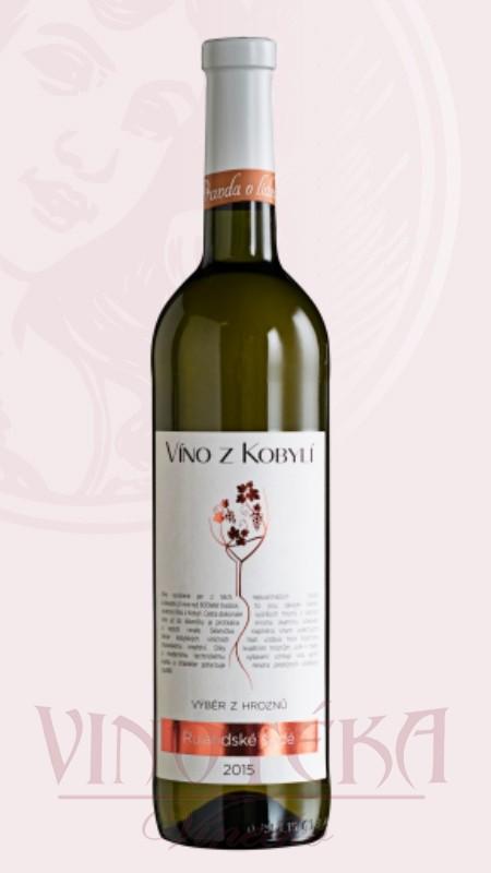 Rulandské šedé, Víno z Kobylí