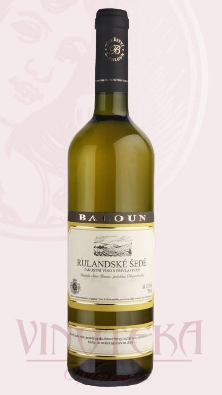 Rulandské šedé, Vinařství Baloun