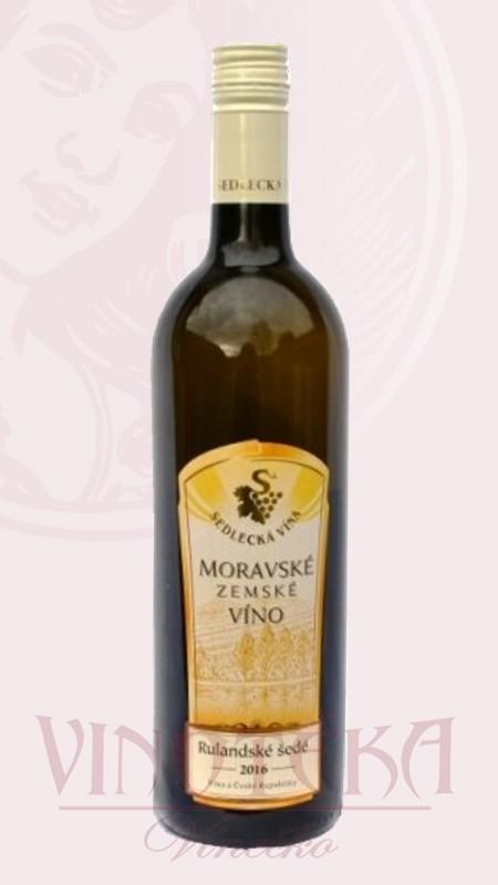 Rulandské šedé, zemské, 2016, Sedlecká vína (VÝPRODEJ) Vinařství Sedlecká vína
