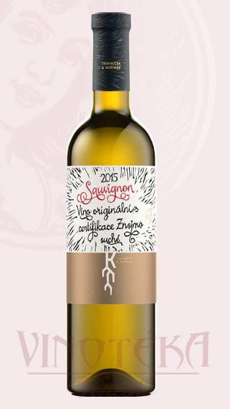 Sauvignon, VOC, 2016, Vinařství Trávníček a Kořínek