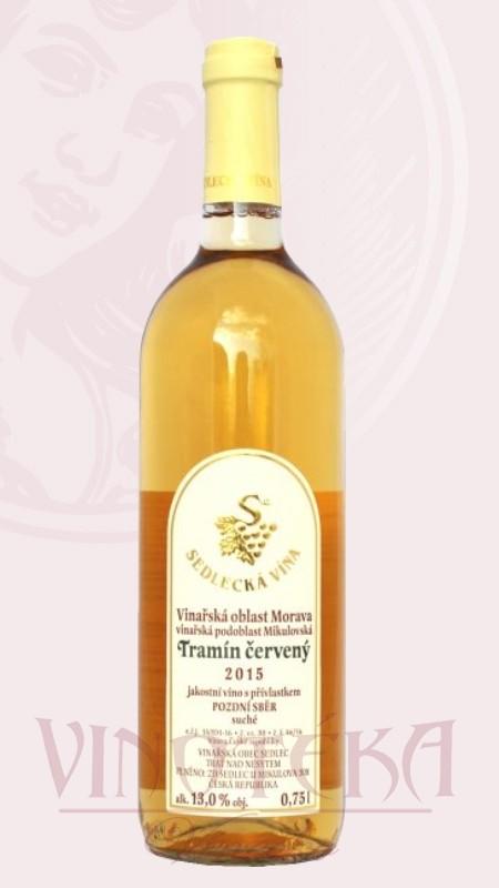 Tramín červený, Sedlecká vína